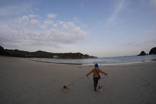 018砂浜散歩へ