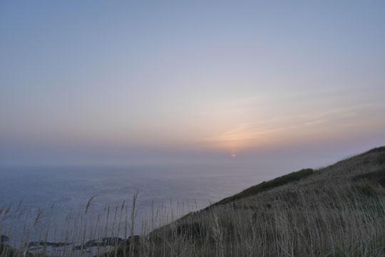 303龍飛で日没