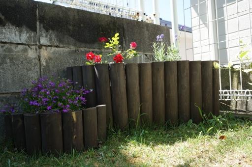 連杭 花壇 木製
