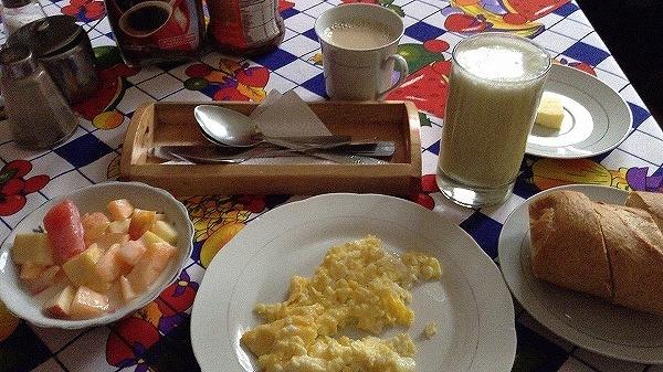 s-キトでの宿、朝食