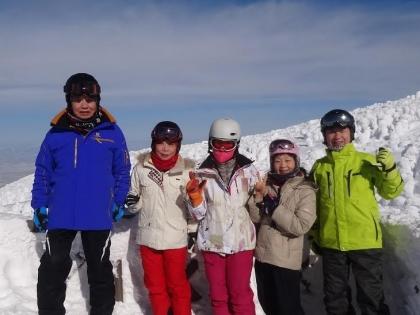 蔵王温泉スキー場樹氷高原にて