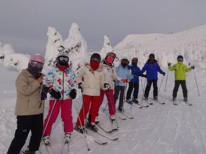 蔵王温泉スキーにて
