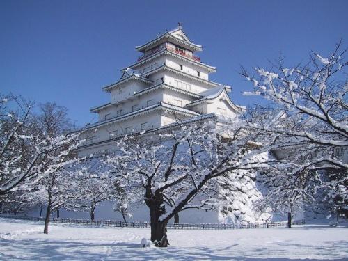 鶴ケ城の冬