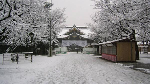 雪の靖国神社