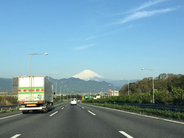 道中で見えた富士山