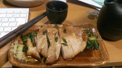 豚と小松菜