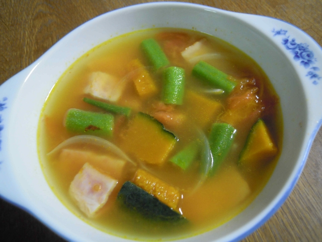 夏野菜のスープ済み