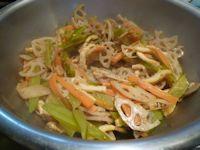 メカブ茎の炒め物