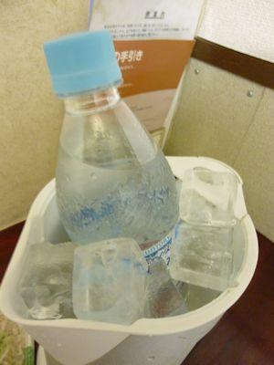 保冷用の氷で冷やす
