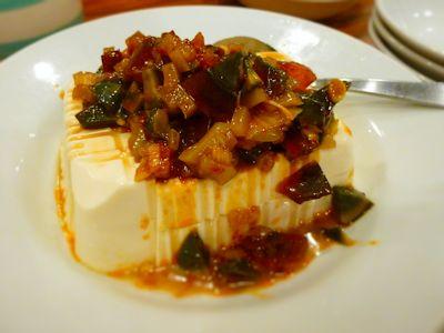 皮蛋と豆腐冷菜