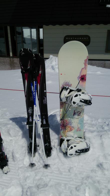 母のスキー&私のスノボ