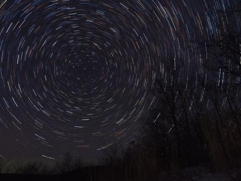 北の夜空141226