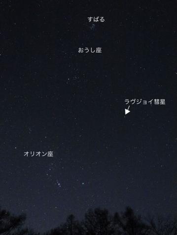 ラヴジョイ彗星位置150109