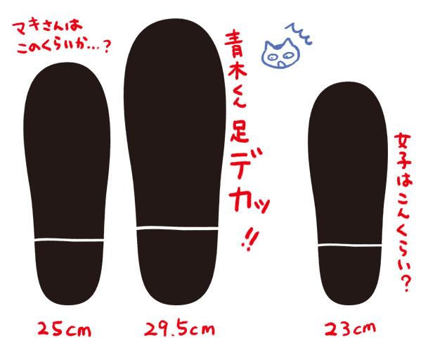 9巻 足大きさ比率 秘密 トップ・シークレット