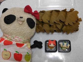 柏餅と妖怪ウォッチ和菓子