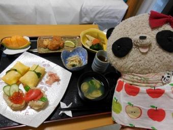 産院の夕食和食