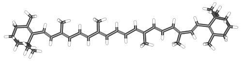 βカロチンで原子サイズのサヤエンドウ
