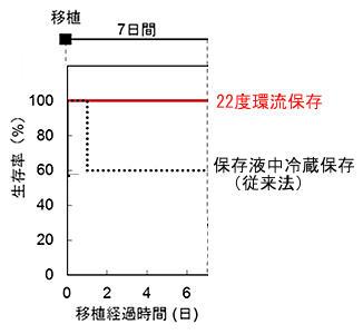 移植用摘出臓器を22度で保存する技術