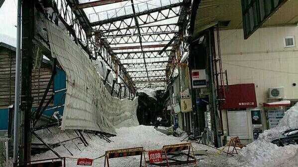 アーケード崩壊高崎中央銀座