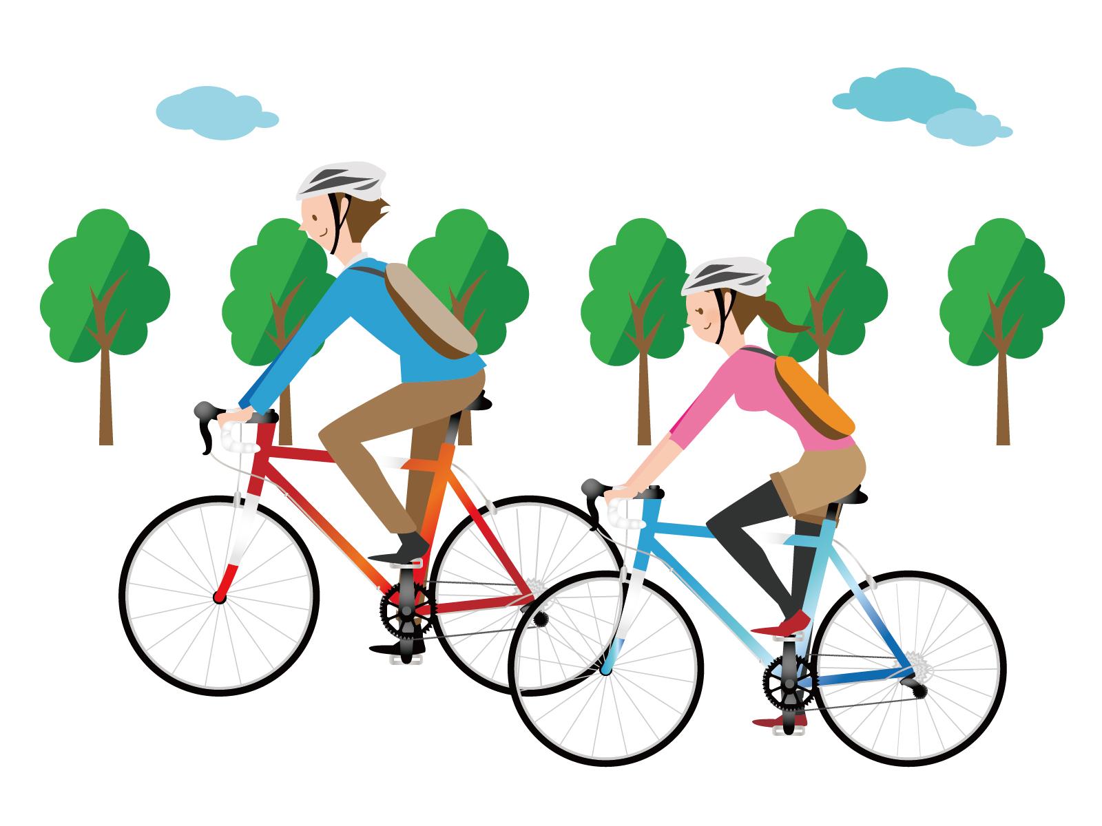 サイクリングカップル