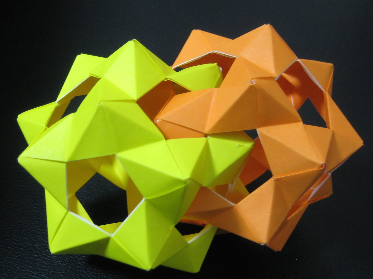 すべての折り紙 星 立体 折り紙 : 自体は簡単ですが、二つの星 ...