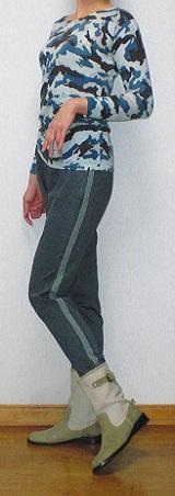 青カモフラ+パンツ