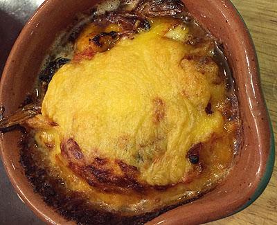 ブイヤベースのチーズ焼き