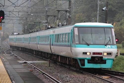 381系くろしお in 白浜駅 1