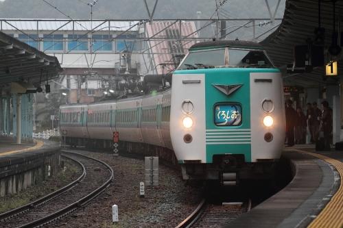 381系くろしお in 白浜駅 2