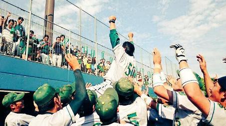 20150602西南学院大学野球部優勝画像