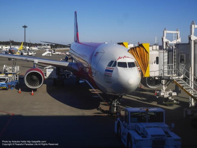 タイ・エアアジアX XJ601便の機体