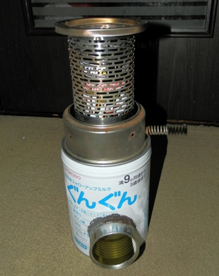 反射型灯油ストーブのコアを載せると面白そうだけど