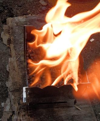 M3でペレット燃焼