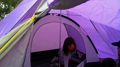 ティピィの中にも二人用テント