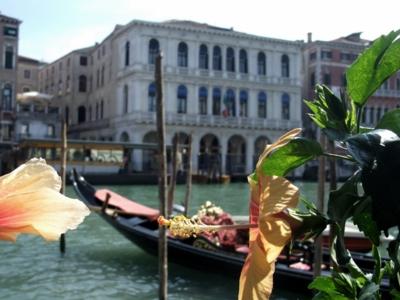 ベネチア149花とゴンドラ