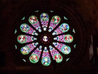 ポルトガル061大聖堂バラ窓