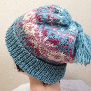 編み込み帽子1