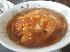 [写真]富津・錦楽亭のエビチリ麺