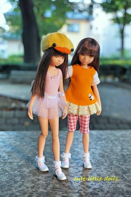tutu ruruko twins in park DSC07778_Fotor
