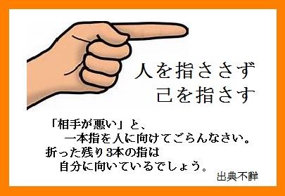 人を指さす