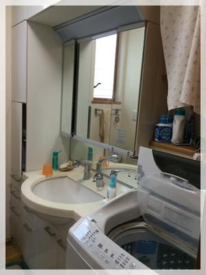 妹の家の洗面所