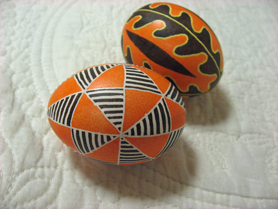 orange pysanky