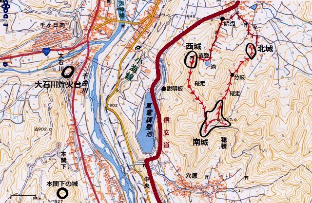 蟻城とその周辺図