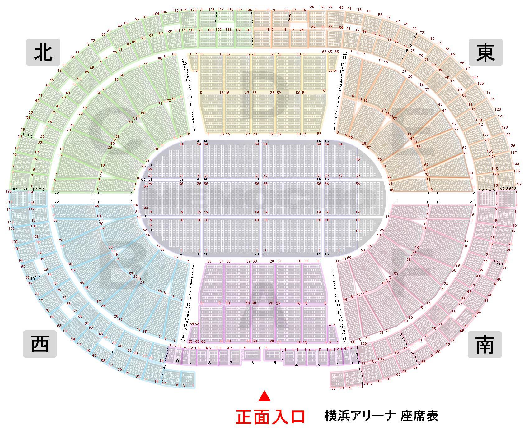 横浜アリーナ 座席表 02