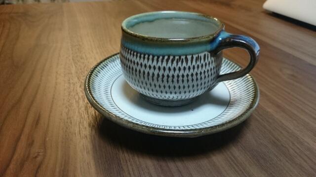 小鹿田焼コーヒーカップ