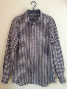 ストライプメンズシャツ1