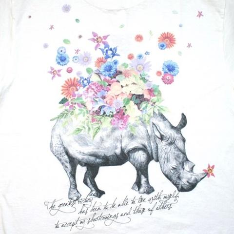 2015-06-13 6テン2ozオリジナル半袖プリントTシャツ(Rhinoceros Flower) 2