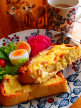 cabbage&cheese toast