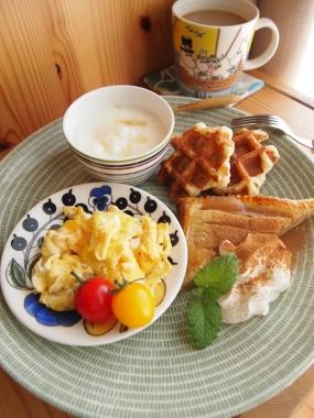 apple pie & waffle