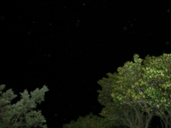 屋久島灯台から空を見上げて